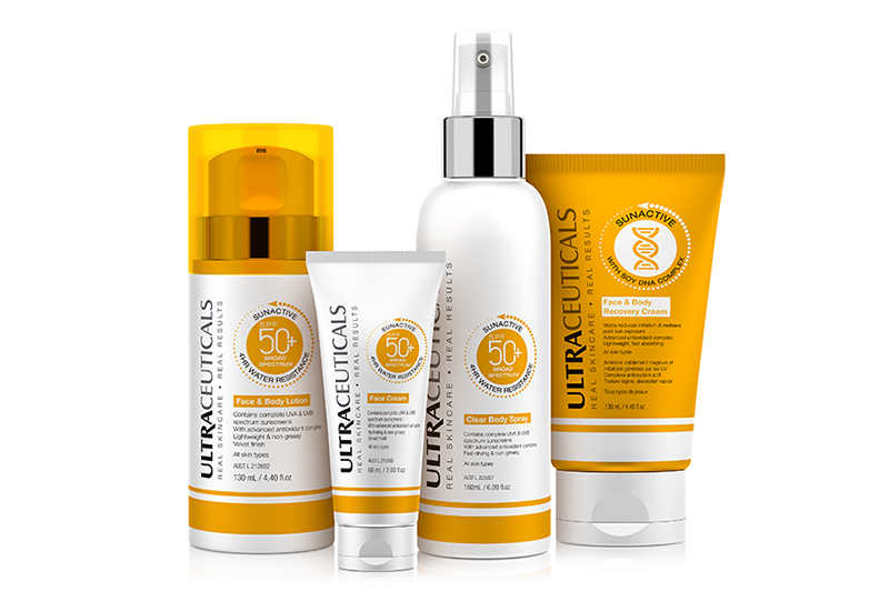Ultraceuticals' SunActive range provides a high SPF in a broad spectrum, water resistant formula.