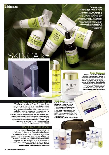 professional beauty magazine skincare